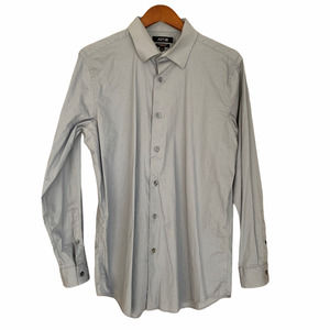 Apt. 9 Gray Collared Long Sleeve Button Up Shirt